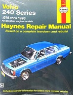 Image of a Haynes Volvo 240 repair manual